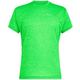 SALEWA Puez Melange Dry Camiseta Manga Corta Hombre, fluo green melange